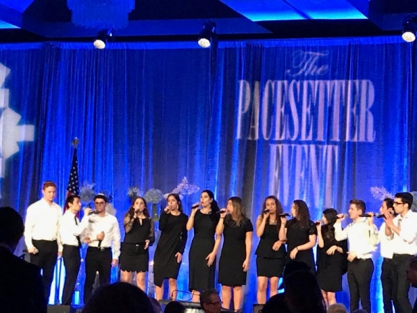 Performance at a Jewish Federation event in Miami, Florida.