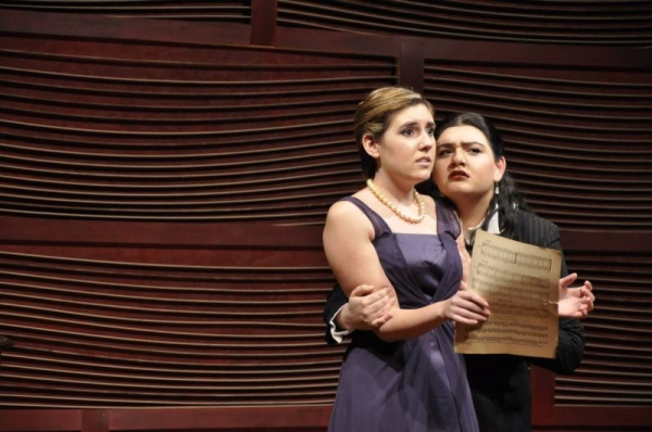 """Cassandra as Sharon in """"Master Class"""", Stetson Second Stage Theatre."""