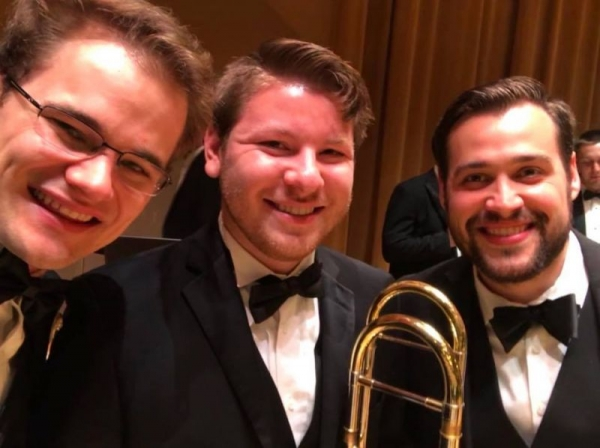 The Frost Wind Ensemble Trombone Section.