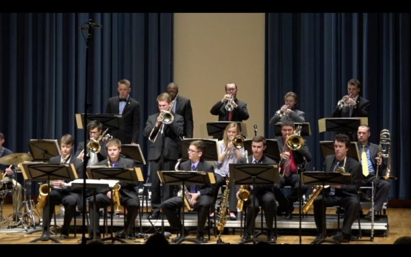 Soloing with the Centre Dimensions Jazz Ensemble.