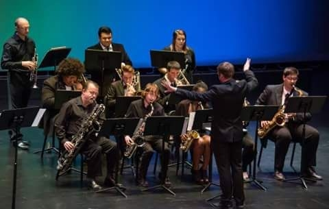 Directing the VU Jazz Ensemble In 2017.