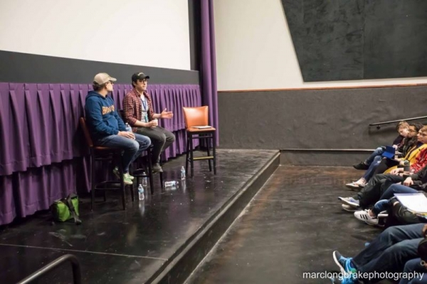 Zach teaches a guest masterclass on acting at the 2018 Omaha Film Festival to students of the Omaha Film Academy.