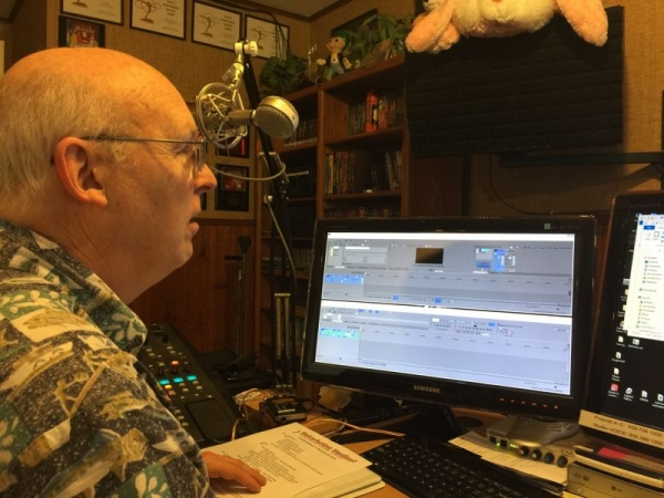 James Alburger directing a VO session.