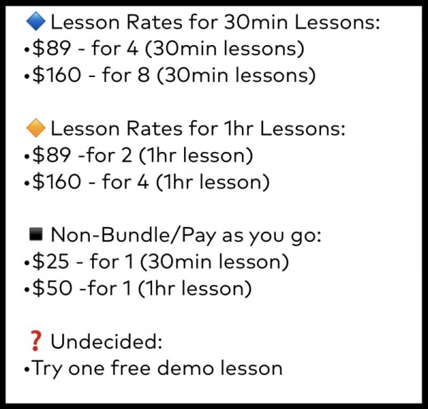 Lesson Rate Overview