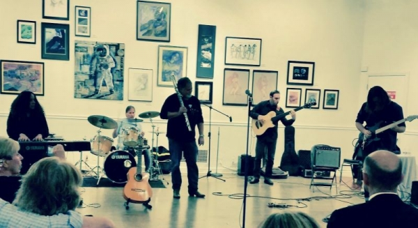 Playing a free jazz gig in Hollywood, CA with great musicians and instructor friends.