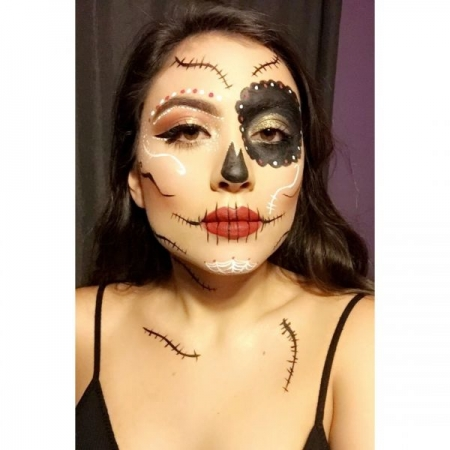 Halloween makeup: sugar skull, inspired by a YouTube video I saw