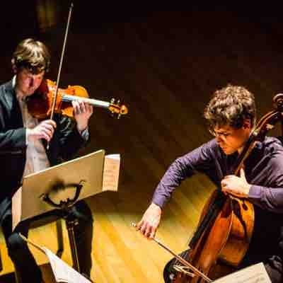 "Performing O. Messiaen's ""Quartet for the end of time"" with Victor Julien-Laferrière, the winner of Queen Elizabeth cello competition."
