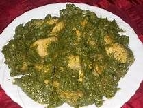 This is spinach cooked the African way with ethnic flavors. It makes a great side dish. This African stewed spinach dish is a must-try.