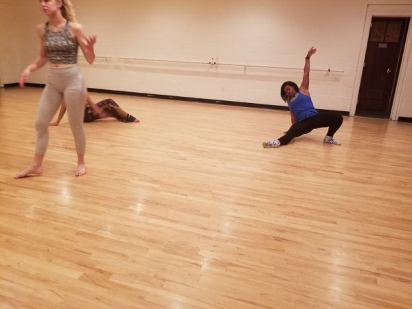 I'm the type of choreographer who will get on the ground with my dancers.