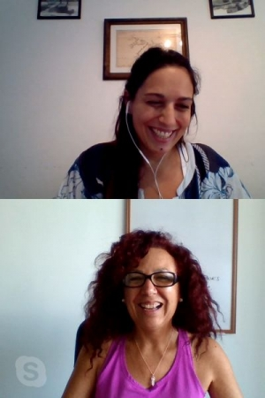 Online lesson with Maite