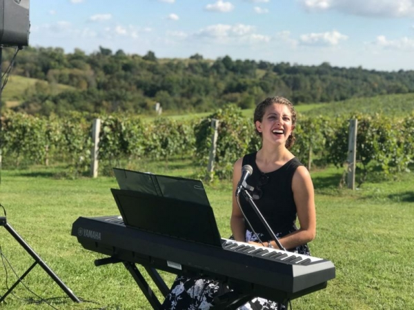 My stepsister's wedding in Wisconsin - I played and sang during her ceremony.