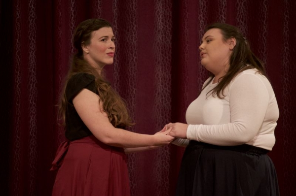 "Me on the Left as Jo in the Musical, ""Little Women."" Here we are singing the song, ""Some Things are Meant to Be."""