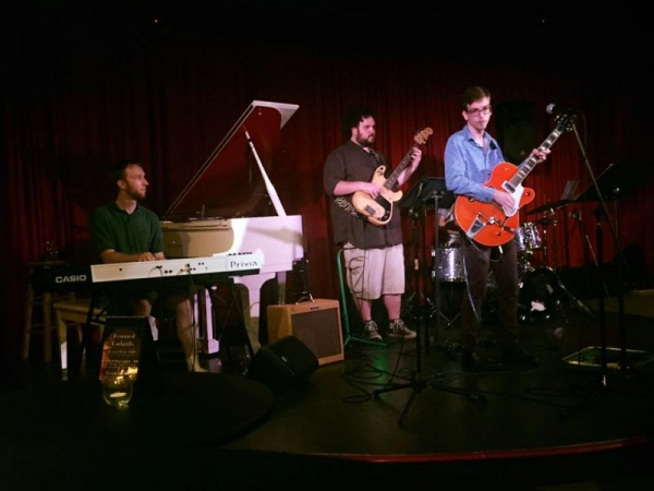 Me (on the left) playing with a jazz fusion group at a bar in Knoxville, TN.