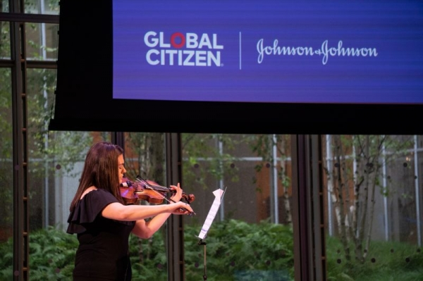 Performing at Global Citizen