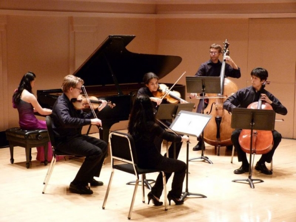 Performing Chopin 1st Piano Concerto at Shepherd School of Music, Rice University
