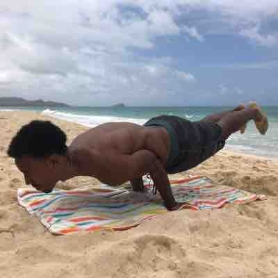 Beach training at Waiminalo beach Oahu Hawaii