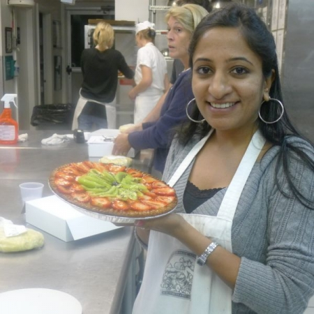 Baking Classes at Culinary school. Fresh Fruit Pie