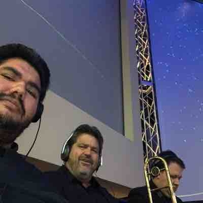 Me Gordon and Mitch doing a Christmas Special Service at a Church in Phoenix