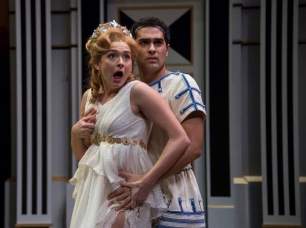 Mary Elizabeth as Philia in A Funny Thing Happened on the Way to the Forum.