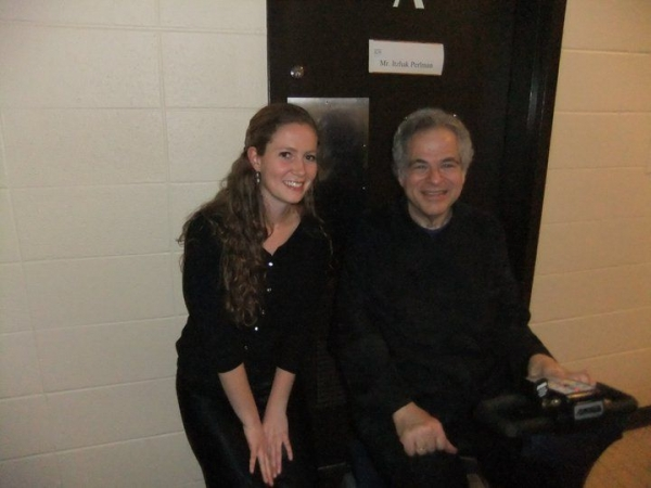 After playing with Itzhak Perlman