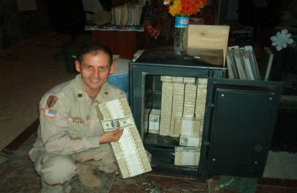 Captured funds for Iraqi reconstruction 2003