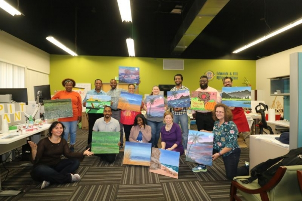 Sip and paint classes are so much fun