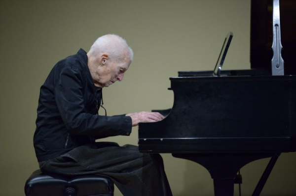 Greg played the piano 50 years ago. He started his lessons at 85.
