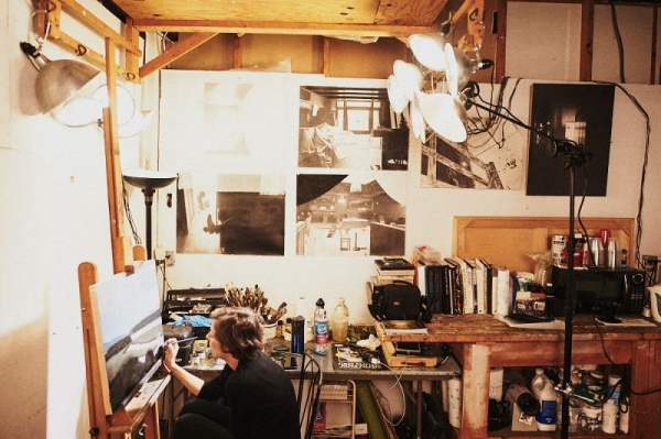 Me, at work in my studio. You can see my work on my website, www.eileenmurphy.net and on my IG @eileen_murphy_studio
