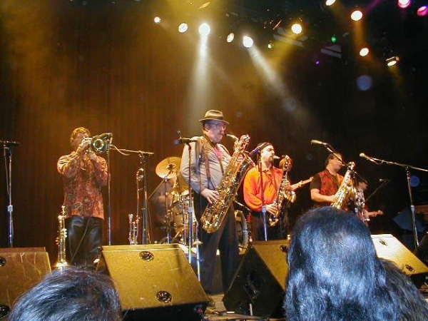 Playing with Tower Of Power.