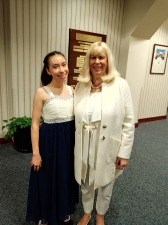 A ninth grade student won first place in the Young Artist Award of Maryland.