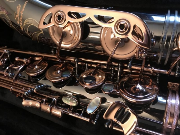 One of our Santee 2C4 Pro-Fusion professional saxophones. I've been designing off-and-on since 2000.