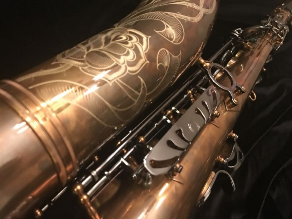 Another photograph of one of our saxophones.