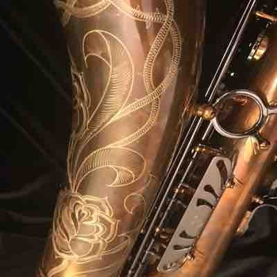 Another image of one of our Santee 2C4 Pro-Fusion tenor saxophones.