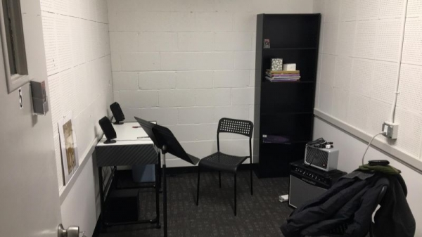 The studio space at Village Music Academy.