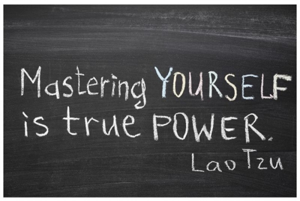 "Great quote by Lao Tzu and absolutely what you can learn by studying with Kait! ""Mastering yourself is true power."""