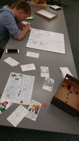 A student from my Tabletop Board Games Class at Cuesta College For Kids. (Summer of 2017)