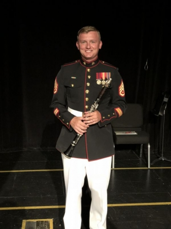 Prior to a Concert with the Airforce Band of the Golden West