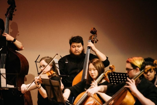 With the Anchorage Bowl Chamber Orchestra.  Photo Credit: Catie Bartlett Photography