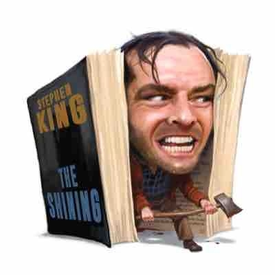 "Book review ""The Shining"" Editorial illustration."