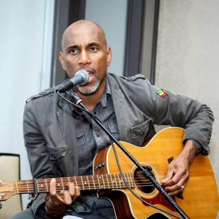 Playing and singing at one of my live events