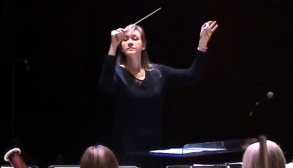 Conducting the University of New Orleans Wind Ensemble