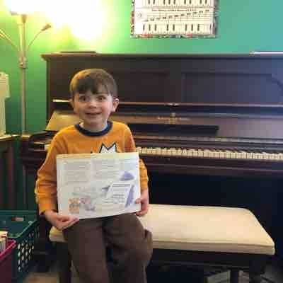 Congratulations Octavius for graduating to level 3 in Music for Little Mozarts