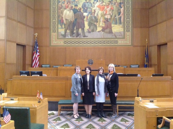 from L to R, Rep Cady Mckeown who sponsored my performance, me, and two dear friends who are also  my piano students!