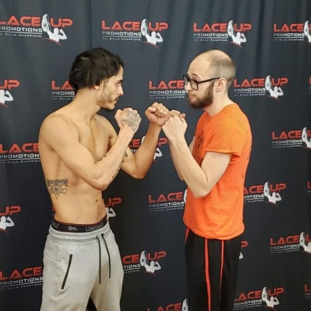 Recent face off for my kickboxing debut