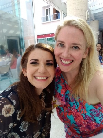 With my English student at an event in Tijuana because life isn't always about teaching!