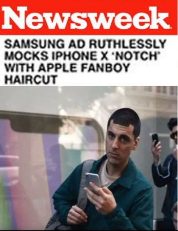 "The Samsung ""Notch Guy"" - Numerous Samsung national commercials"