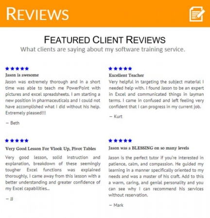 Reviews On Other Websites