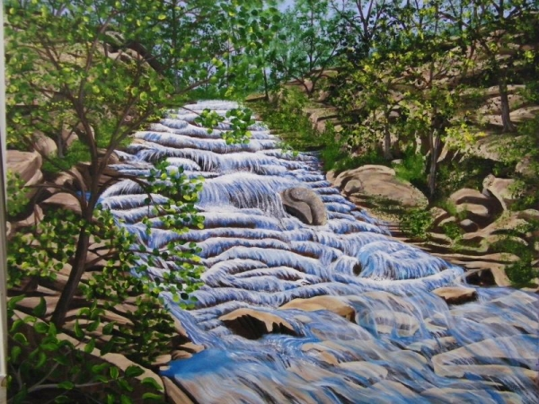 I love to paint waterfalls here in GA