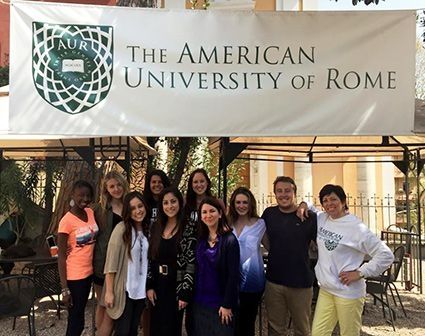 "With ""Media, Art, and Social Activism"" students at The American University of Rome"