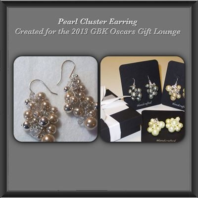 Pearl Cluster Earrings - Created for the Oscar Gift Lounge